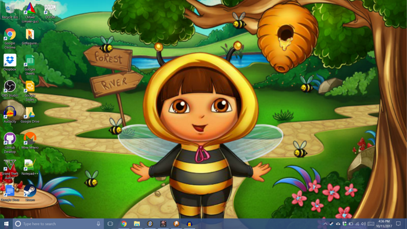 A picture of Dora Marquez wearing a bee outfit with bees surrounding her.