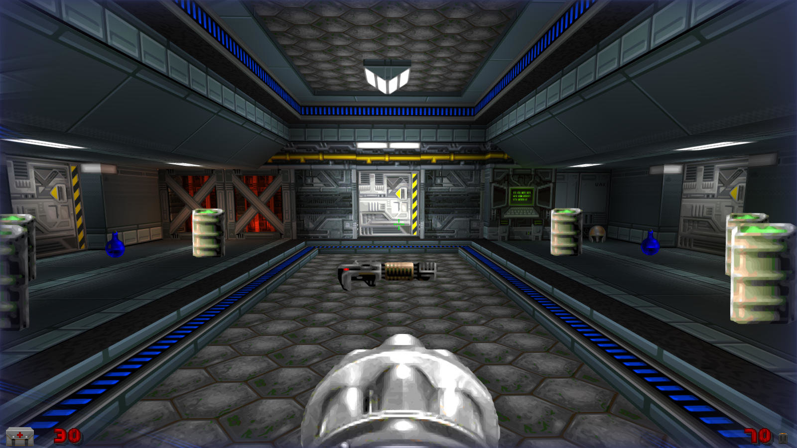 DRRP Doom RPG Remake Project SEC4 Sector 4 Plasma Rifle Plasmagun Barrel Screenshot