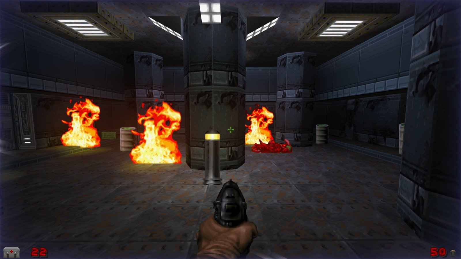 DRRP Doom RPG Remake Project SEC1 Sector 1 Fire Barrel Parking Screenshot