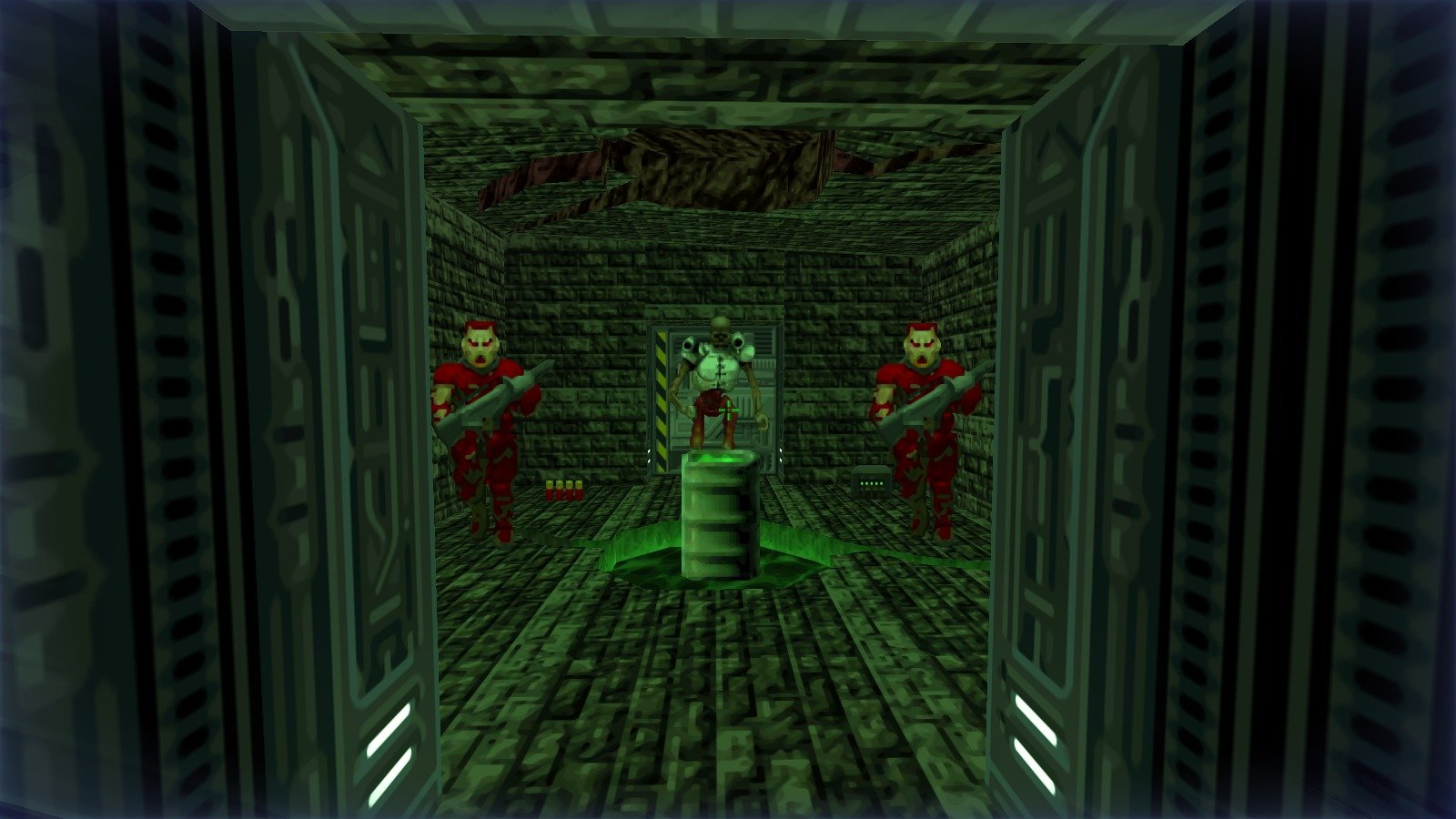 DRRP Doom RPG Remake Project REAC Reactor Barrel Revenant Zombie Cpt Acid Green Screenshot