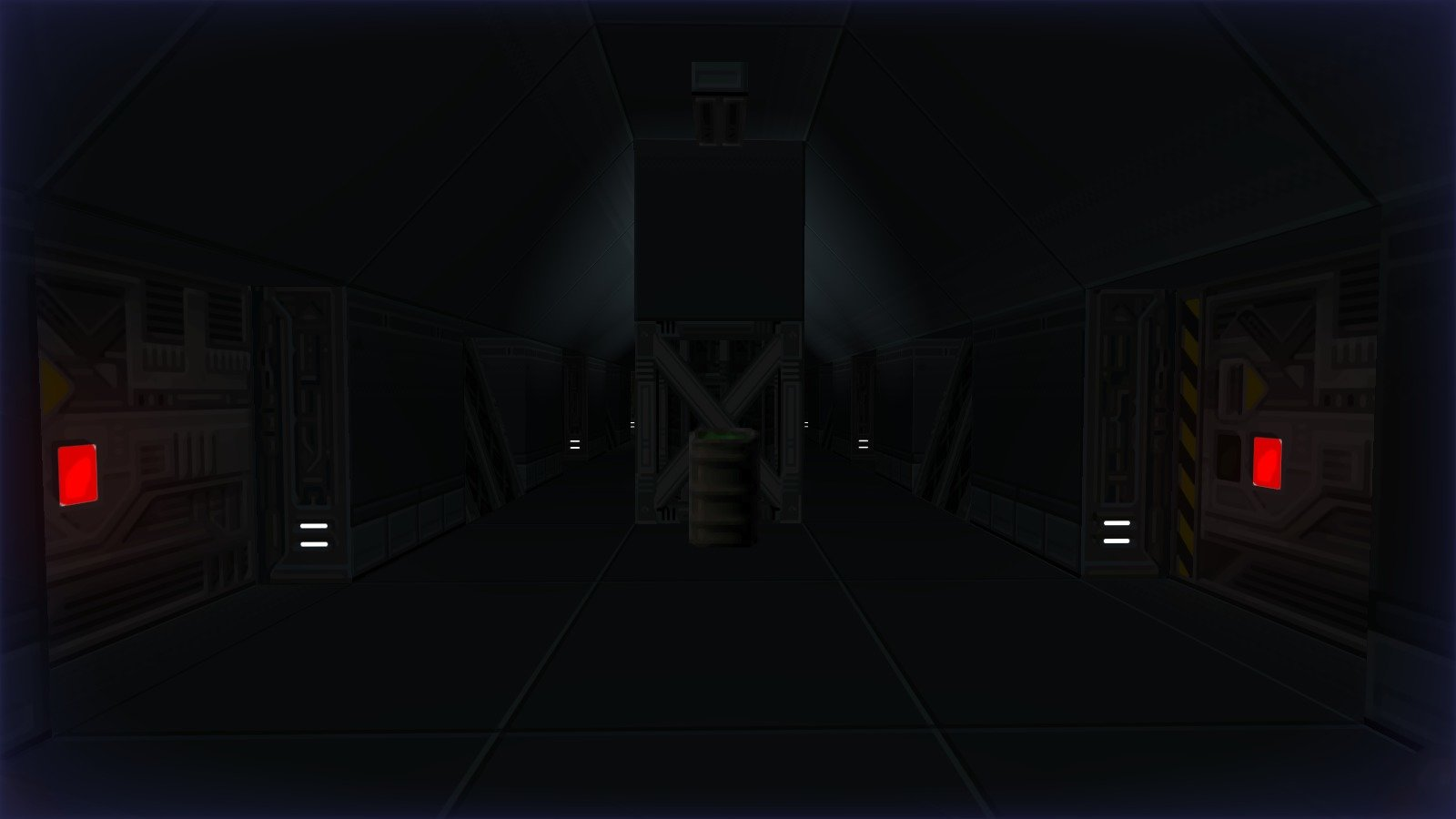 DRRP Doom RPG Remake Project SEC1 Sector 1 Dark Gateway Doors Hall Barrel Screenshot