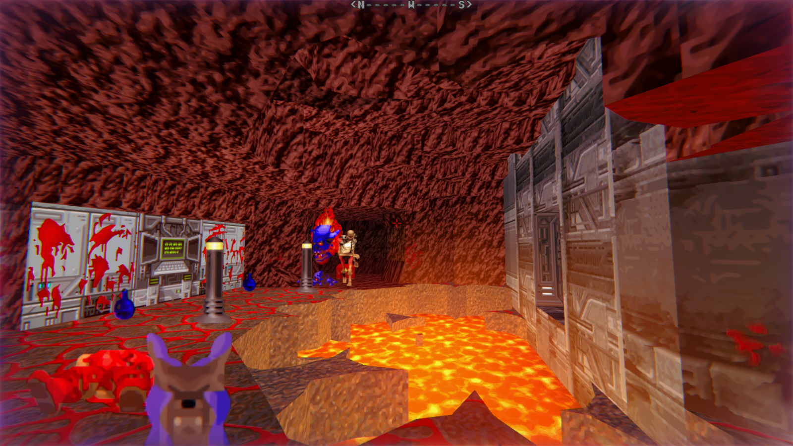 DRRP Doom RPG Remake Project REAC Reactor Demon Wolf Revenant Nightmare Caves Lava Lakes Screenshot