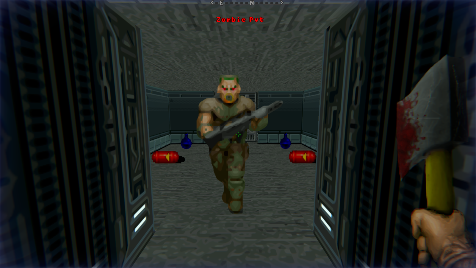 DRRP Doom RPG Remake Project INTRO Entrance Zombie Pvt Axe Screenshot