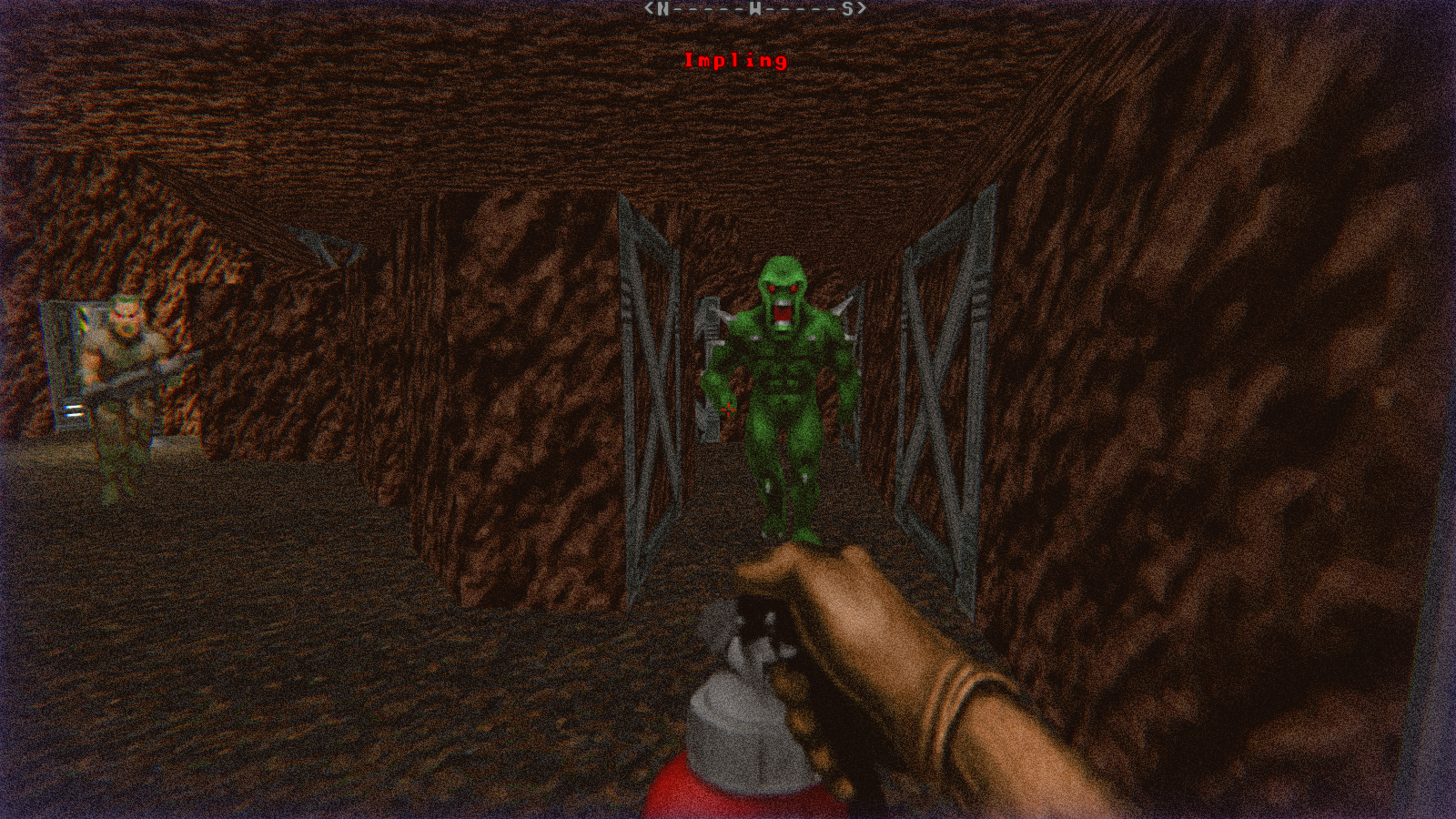DRRP Doom RPG Remake Project SEC2 Sector 2 Impling Zombie Pvt Fire Extinguisher Caves Screenshot