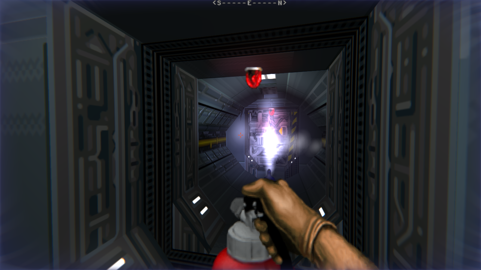 DRRP Doom RPG Remake Project SEC1 Sector 1 Gateway Steam Fire Extinguisher Flashlight Screenshot