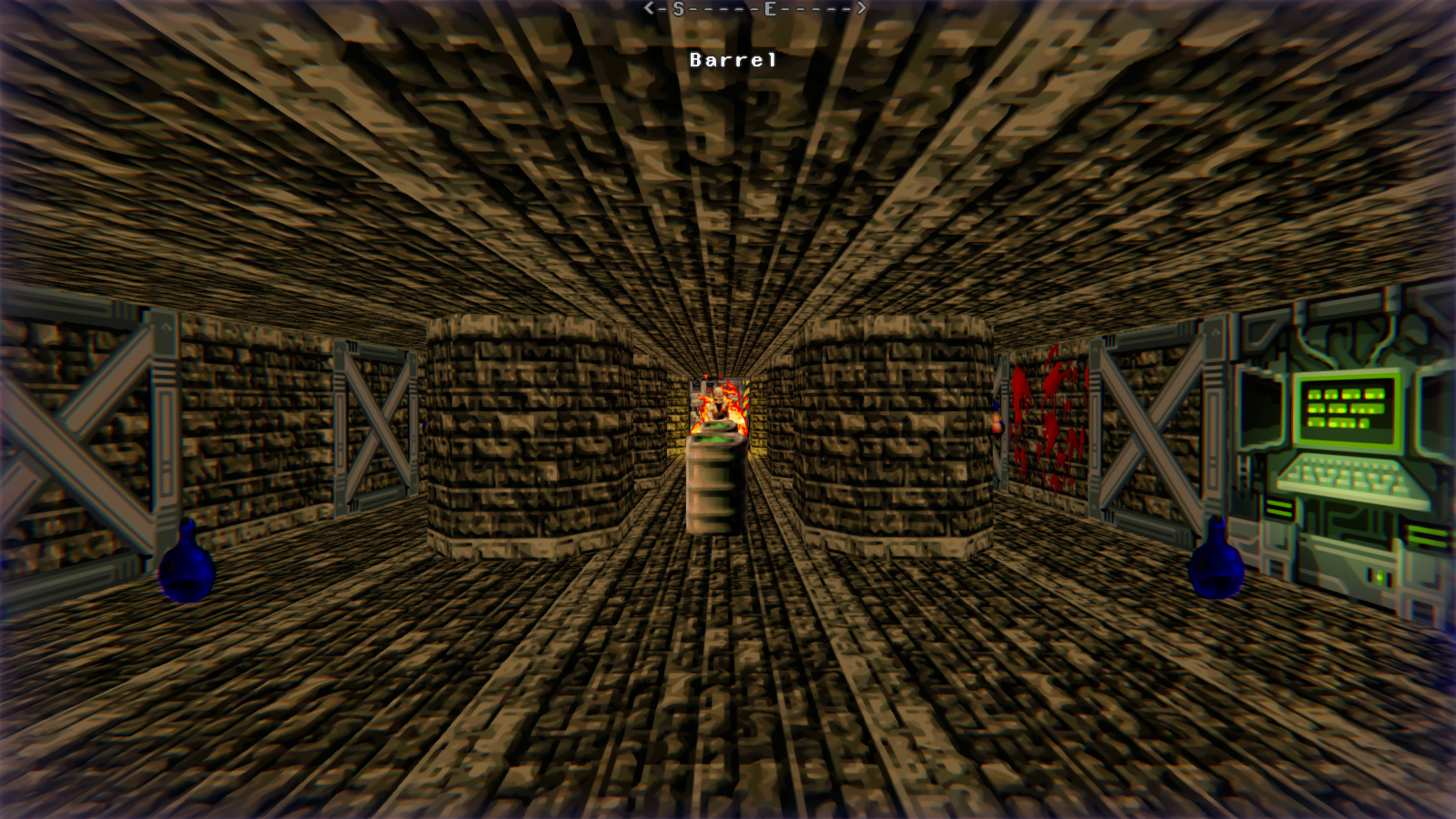 DRRP Doom RPG Remake Project SEC5 Sector 5 Barrel Archvile Prison Screenshot