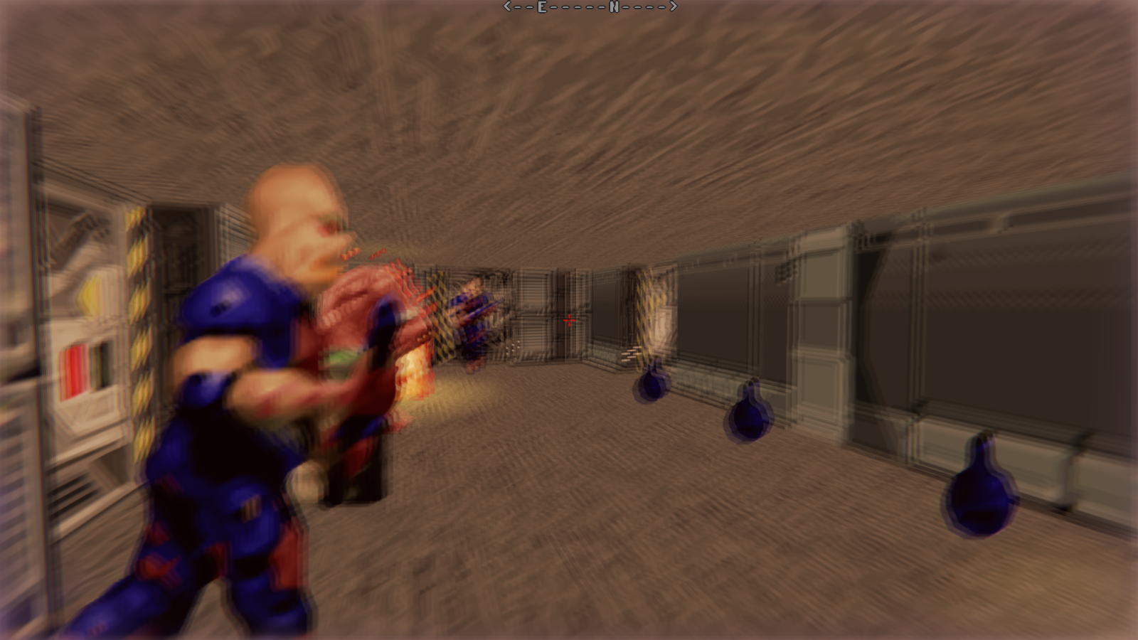 DRRP Doom RPG Remake Project SEC5 Sector 5 Zombie Lt Damage Splash Cinematic Shader Screenshot