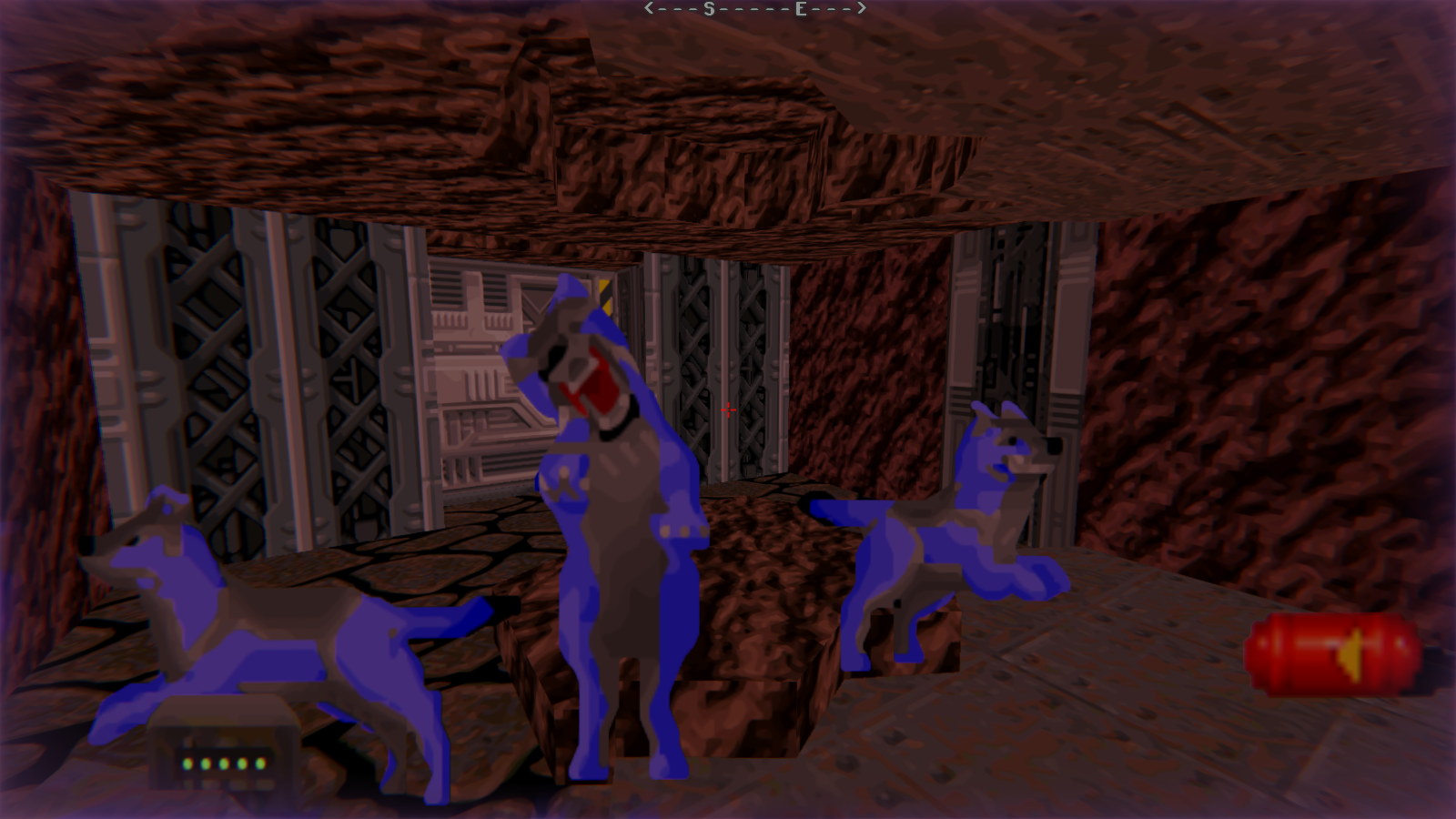 DRRP Doom RPG Remake Project REAC Reactor Demon Wolf Caves Screenshot
