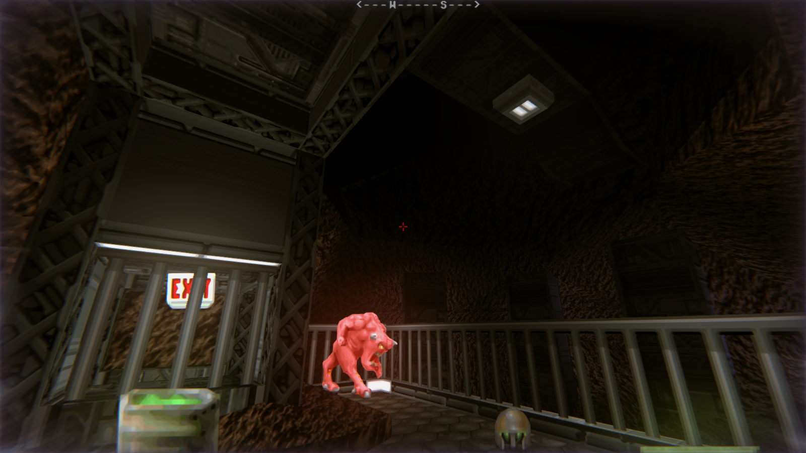 DRRP Doom RPG Remake Project SEC4 Sector 4 Pinky Barrel Caves Exit Screenshot