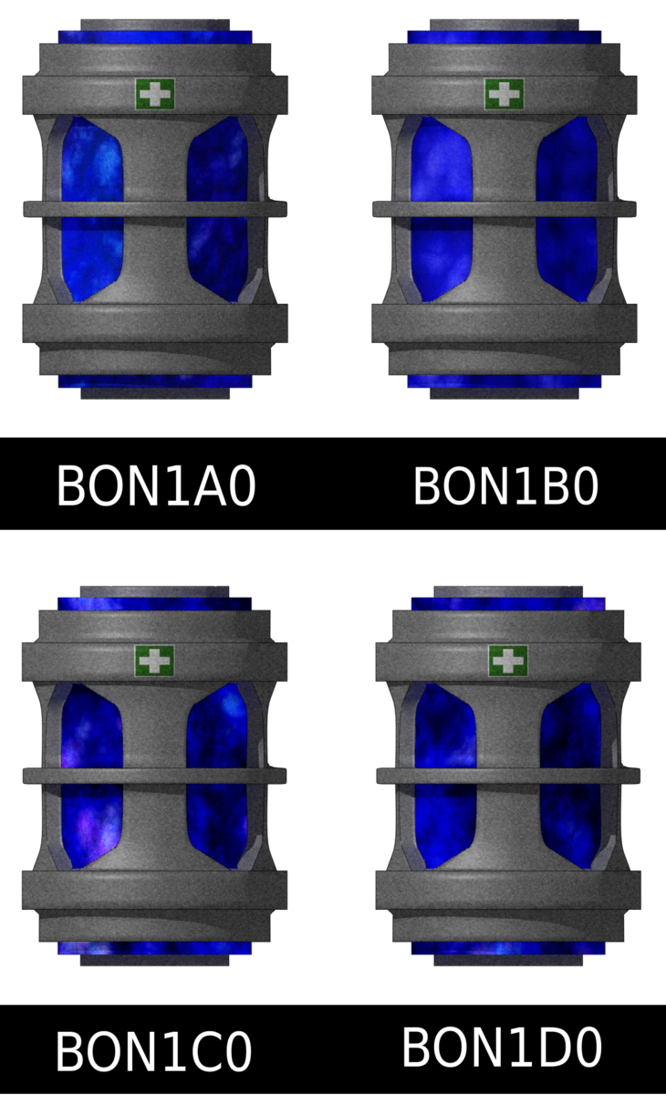 BON1A0 through BON1D0 sprites
