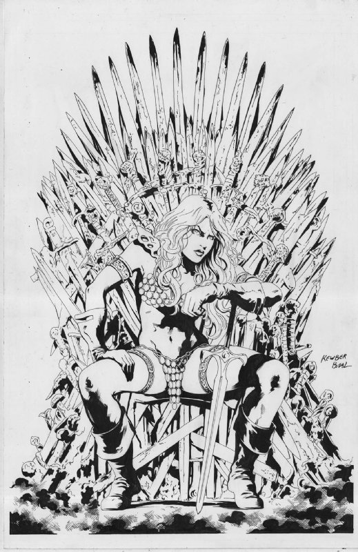 Red Sonja on the Iron Throne